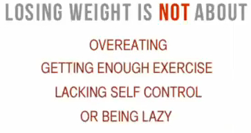 Losing weight is not about