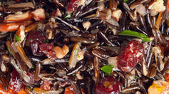 wild rice and cranberries